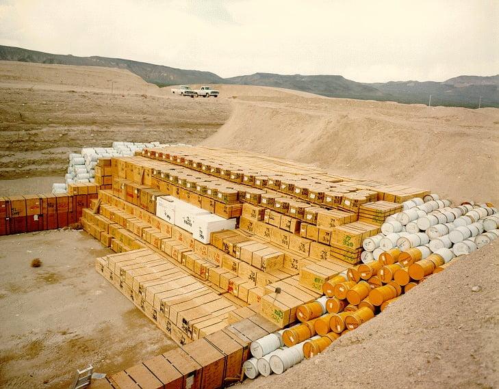 NTS Low level radioactive waste storage pit