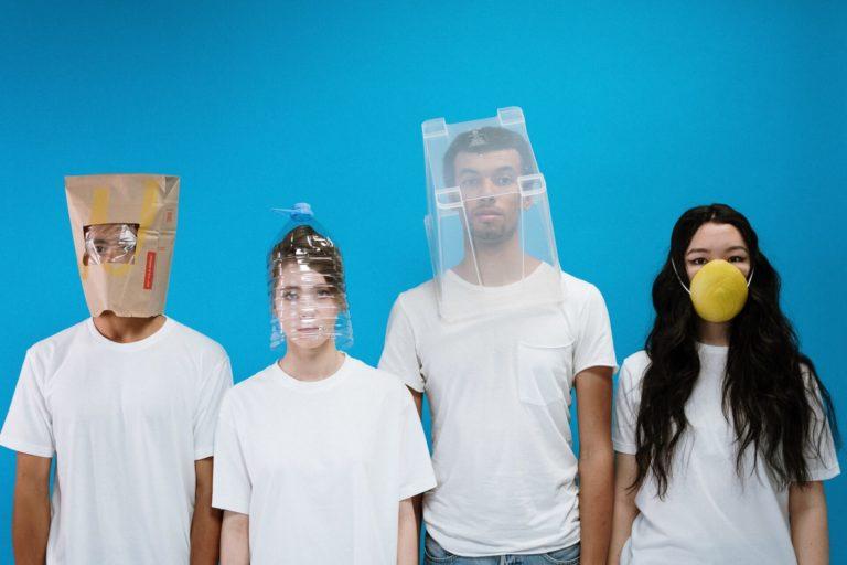 people wearing diy masks 3951623