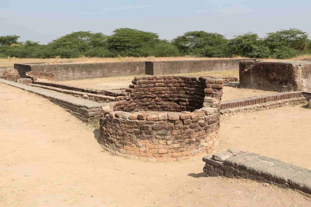 8An ancient well and the city drainage canals in the upper town of the site of Lothal India.